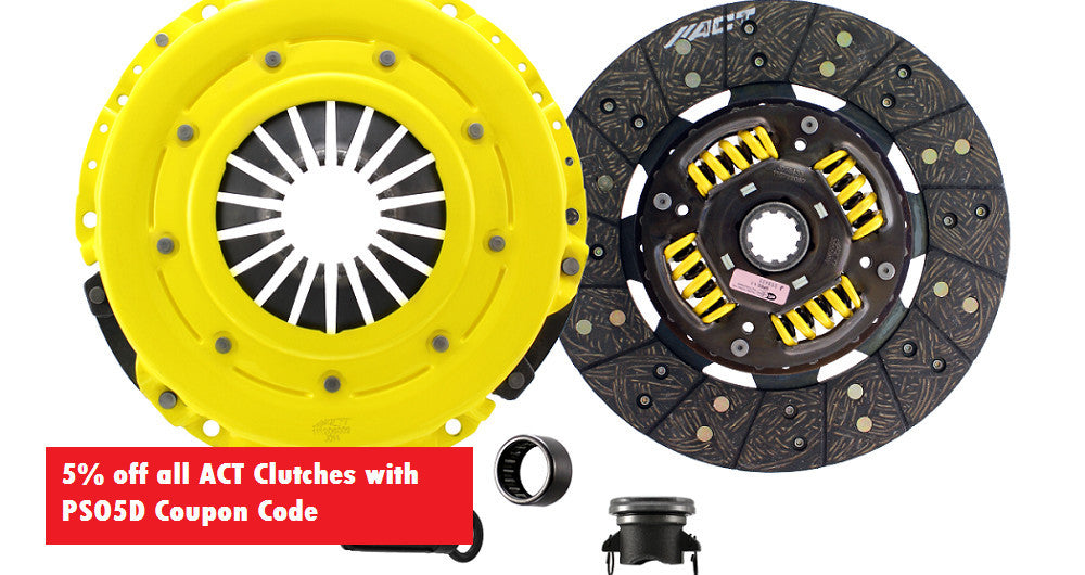 5% off all ACT Clutches at Pro Street