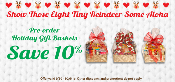 Hilo Hattie Hawaiian Holiday Gift Baskets