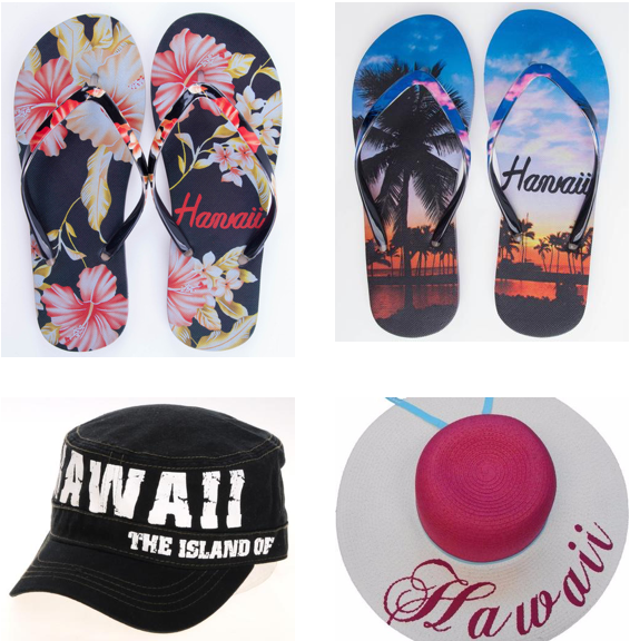 Hawaiian Hats, Caps and Flip Flops