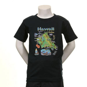 Island Of Oahu Kids T Shirt