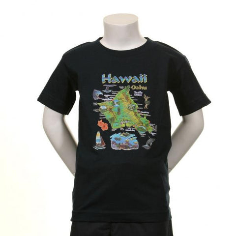 Island of Oahu Kids T-shirt
