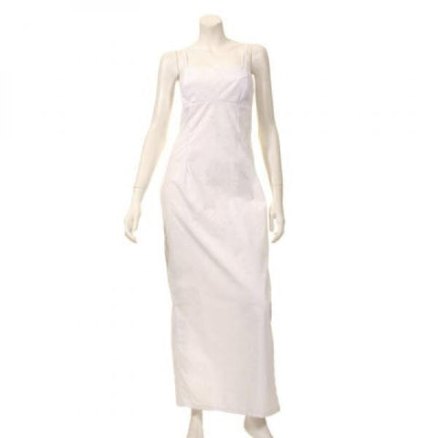 White Long Adjustable Strap Dress
