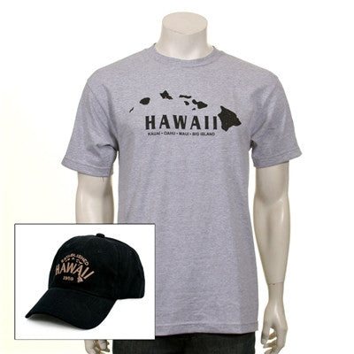Men's Hawaii Island Cap and Tee Combo - 111304