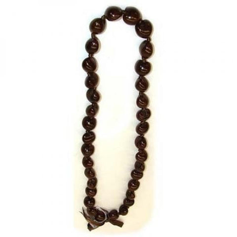 Brown Kukui Nut Lei