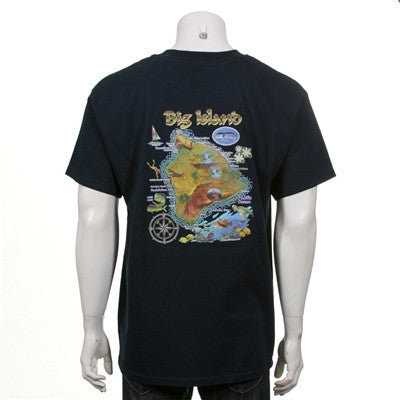 Big Island Map Men's T-shirt - 117304