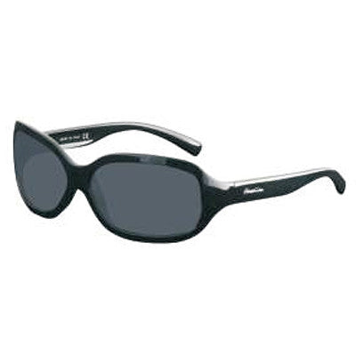 """Queens"" Black Polarized Gray Women's Sunglasses"