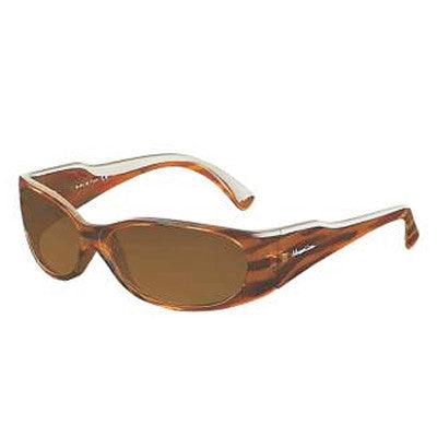 """Club Jetty"" Stripped Tortoise Polarized Brown Women's Sunglasses"