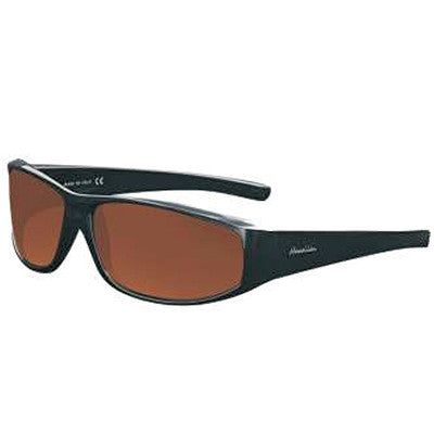 """Maika'i"" Black Polarized Copper Unisex Sunglasses"