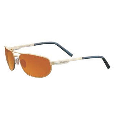 """Archipelago"" Matte Gold Polarized Copper Unisex Sunglasses"