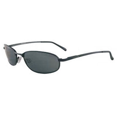 """Ko'olau"" Black Polarized Gray Unisex Sunglasses"