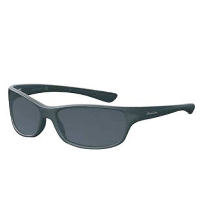 """Paddler"" Matte Black Polarized Gray Unisex Sunglasses"