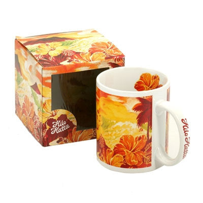Hilo Hattie Vintage Scenic Yellow/Red Mug