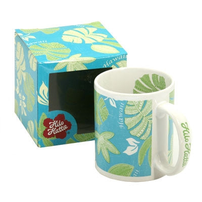 Hilo Hattie Tribal Pareau Teal/Green Mug