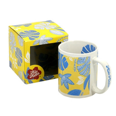 Hilo Hattie Tribal Pareau Yellow/Blue Mug