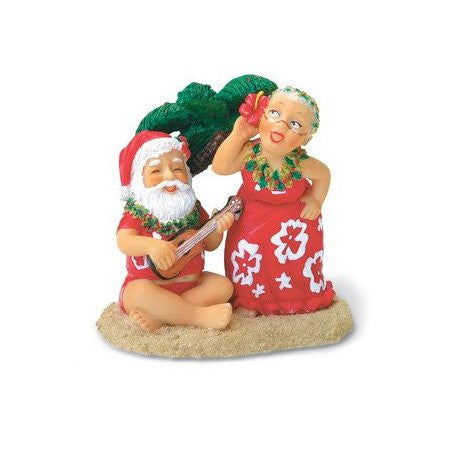 Santa Ukulele & Dancing Mrs. Claus Ornament