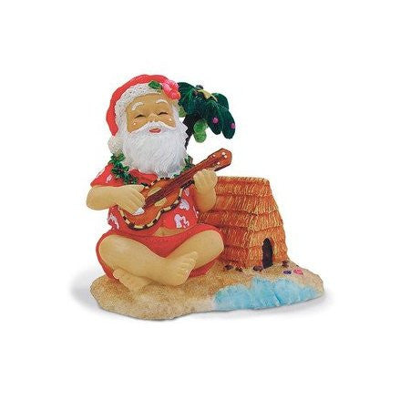Santa On The Beach Ornament