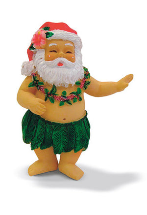 HAND PAINTED ORNAMENT HULA SANTA - 13051
