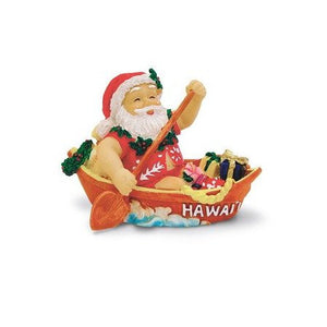 Canoeing Santa Ornament-13077