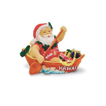 Canoeing Santa Ornament