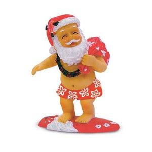 Surfing Santa Ornament-13089