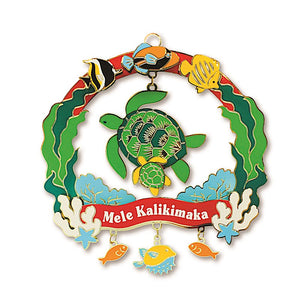 MELE SEA LIFE METAL DIE-CUT COLLECTIBLE ORNAMENT - 13226