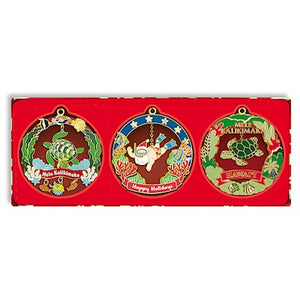 Mini Hawaiian Christmas  Island Style Holiday Die-Cut Ornament Set - 13266