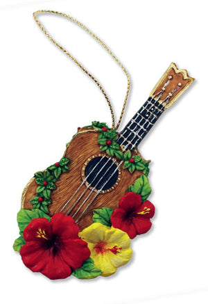 Ukulele Hand Painted Ornament - 13641