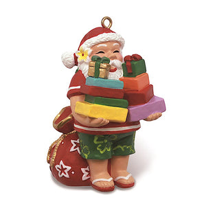 SANTA'S PRESENTS HAND-PAINTED ORNAMENT-13662