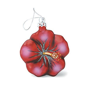 Glass Hibiscus Ornament - 13912