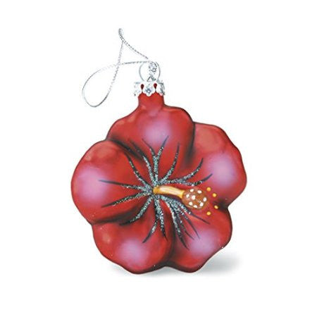 Glass Hibiscus Ornament