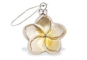 Plumeria Glass Ornament - 13933