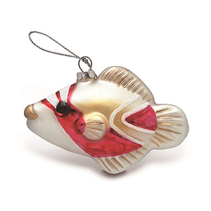 HAND-PAINTED COLLECTIBLE HOLIDAY HUMU GLASS ORNAMENT - 13944