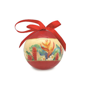 MELE GARDEN GLOSSY PAPER BALL ORNAMENT - 15212
