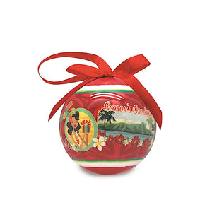 MELE HULA GLOSSY PAPER BALL ORNAMENT - 15213
