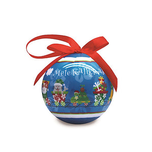 ALOHA EXPRESS GLOSSY PAPER BALL ORNAMENT - 15215