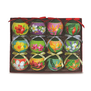 HOLIDAY FLORALS 12-PACK PAPER BALL ORNAMENT - 15312