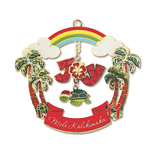 JOYFUL HONU METAL DIE-CUT COLLECTIBLE ORNAMENT - 16002