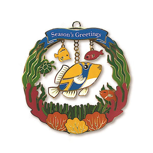HUMU'S GREETINGS METAL DIE-CUT COLLECTIBLE ORNAMENT - 16009