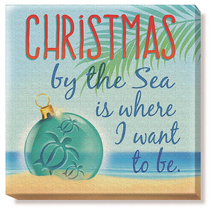 CHRISTMAS BY THE BEACH HOLIDAY CANVAS ART - 18612