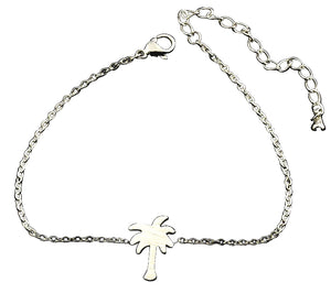 Human Design Palm Tree Bracelet Silver