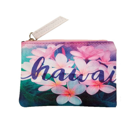 Hawaii Plumeria Pouch Bag - Small