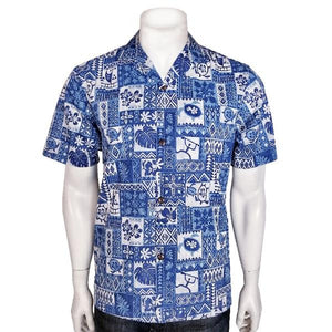 Royal Hawaiian Creations Tapa Men's Aloha Shirt
