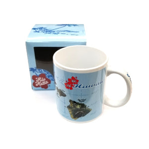 2018 Collection! Brand New! Hilo Hattie Hawaiian Island Map Mug