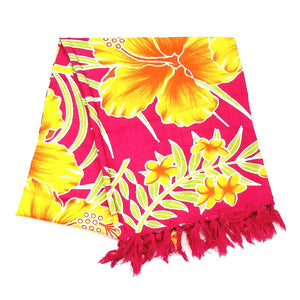 New Hibiscus Long Sarong - Orange