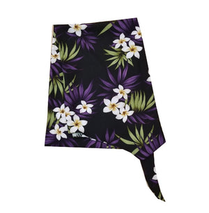 Made In Hawaii Hawaiian Sarong Large Plumeria - Black