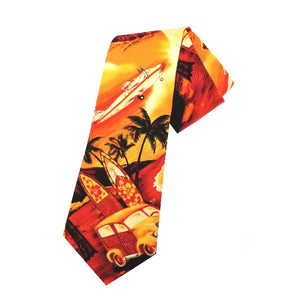 Hilo Hattie Waikiki Woody Necktie - Yellow