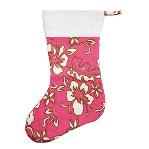 Limited Edition Hilo Hattie Christmas Stocking - Pink Pareo