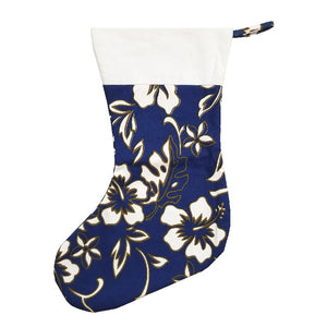 Limited Edition Hilo Hattie Christmas Stocking - Navy Pareo