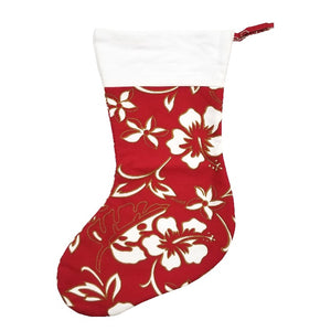 Limited Edition Hilo Hattie Christmas Stocking - Red Pareo