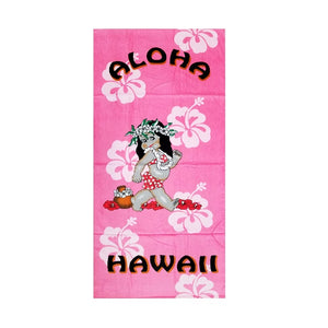 Hula Girl Beach Towel